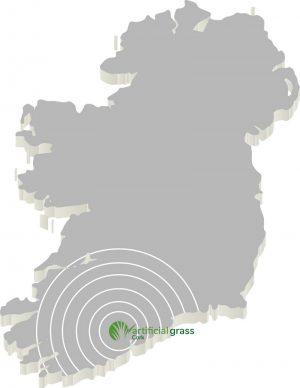 map suplying sythetic grass ireland